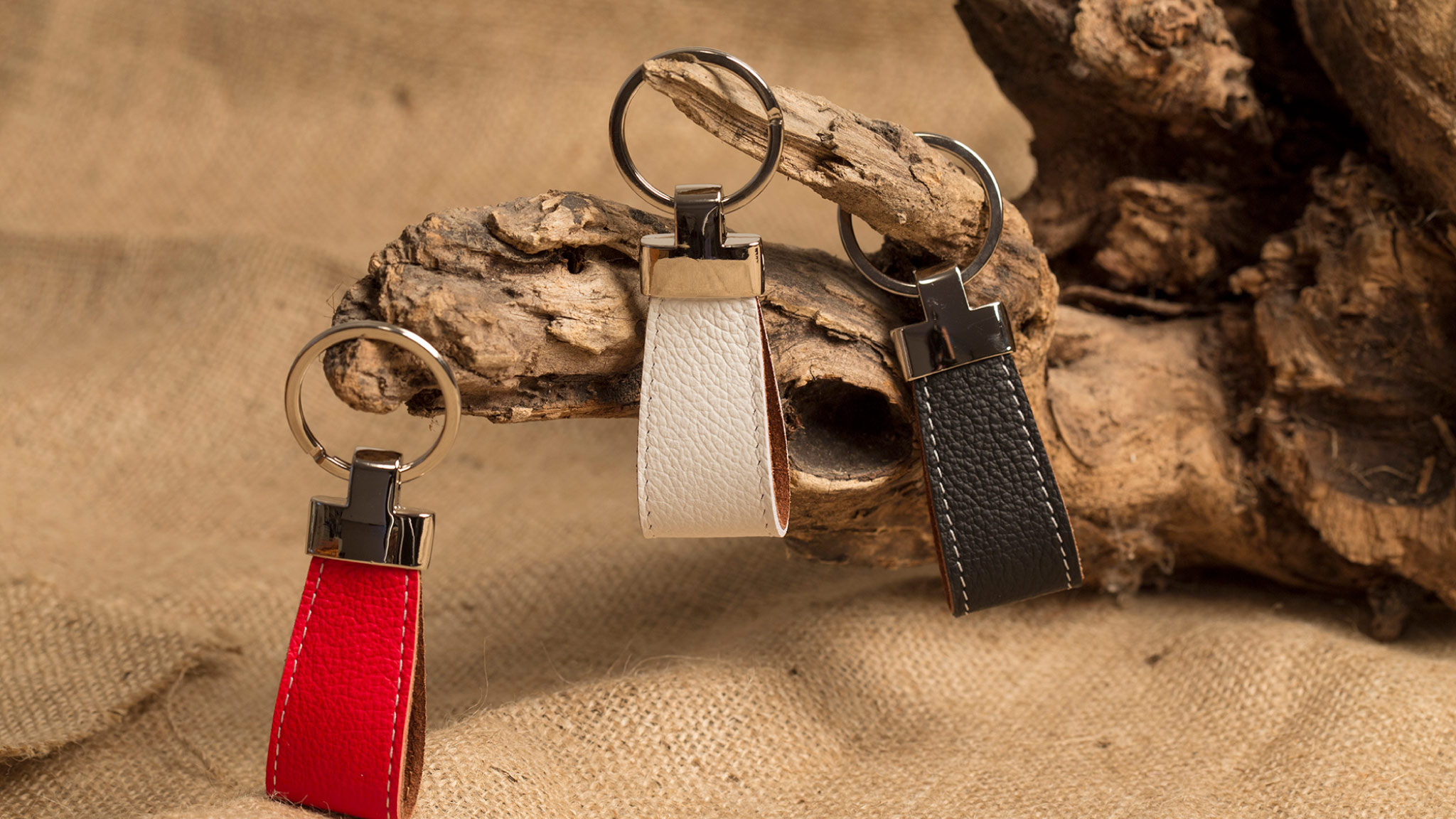 Made in Italy Leather Keychains